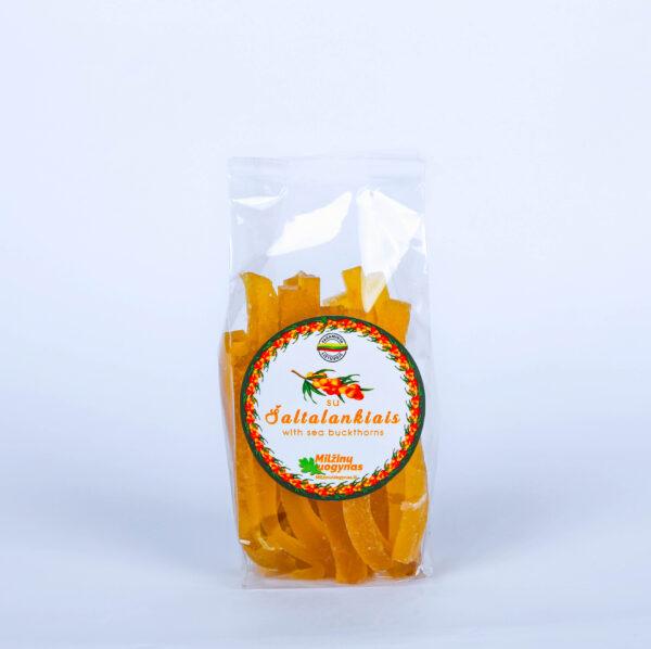 Marmeladiniai šiaudeliai su šaltalankiais – 100 g.