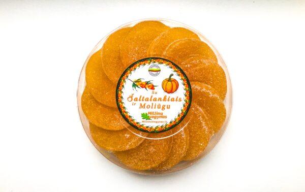 Marmeladiniai saldainiai su šaltalankiais ir moliūgu – 170 g. – NAUJIENA!
